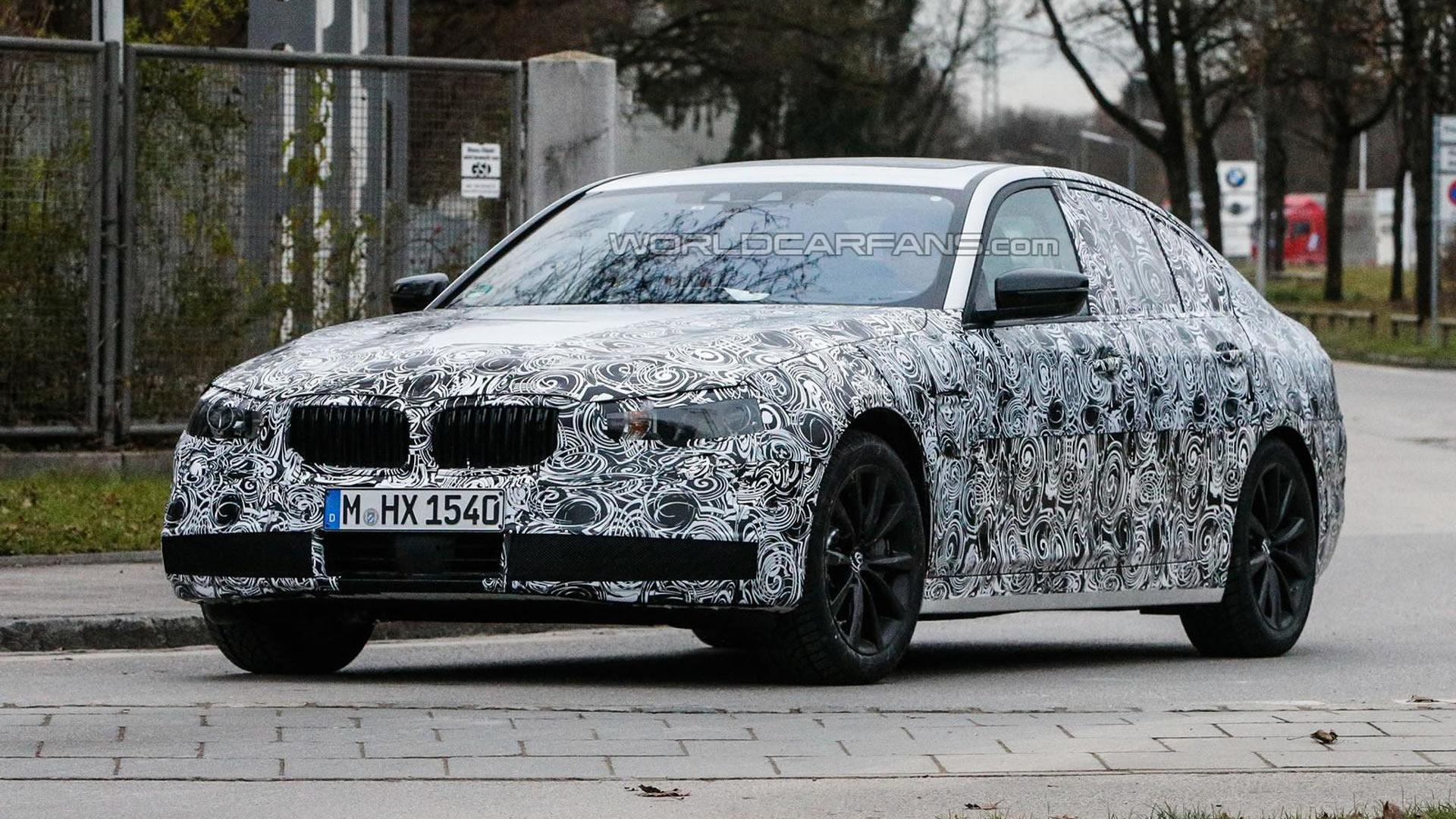 Next generation BMW 5-Series Sedan spied with production body for the first time