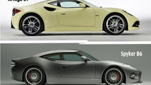 Is the Spyker B6 Venator concept based on the Artega GT ?