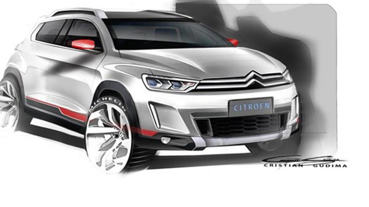 Citroen crossover concept sketch