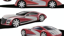 Duesenberg Torpedo Coupe design sketches