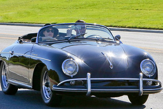 Adam Levine Spotted in his Immaculate Porsche 356A