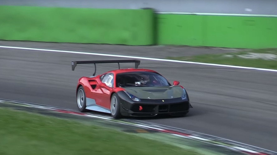 Possible Ferrari 488 Challenge mule spied at Monza
