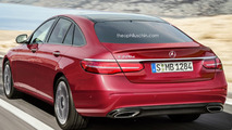 Mercedes E Class liftback rendered as BMW 5 Series GT rival