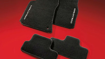 Premium carpeted floor mats with embroidered Dodge Challenger logo