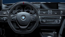 BMW 3 Series with BMW M Performance Parts steering wheel and Carbon Fiber Trim 17.02.2012