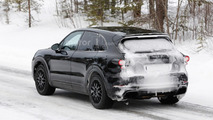2018 Porsche Cayenne spied with active rear spoiler for first time