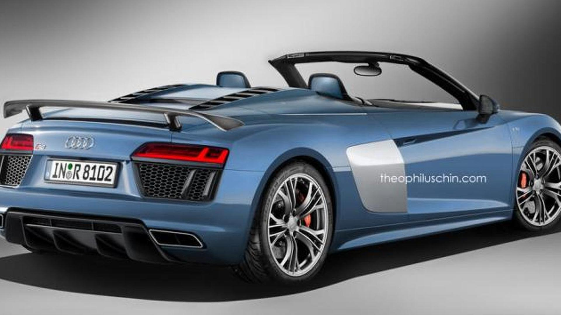 Audi R8 V10 Plus Spyder renders show what to expect