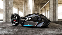 The BMW Titan motorcycle concept was designed for speed