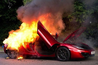 McLaren MP4-12C Goes up in Flames