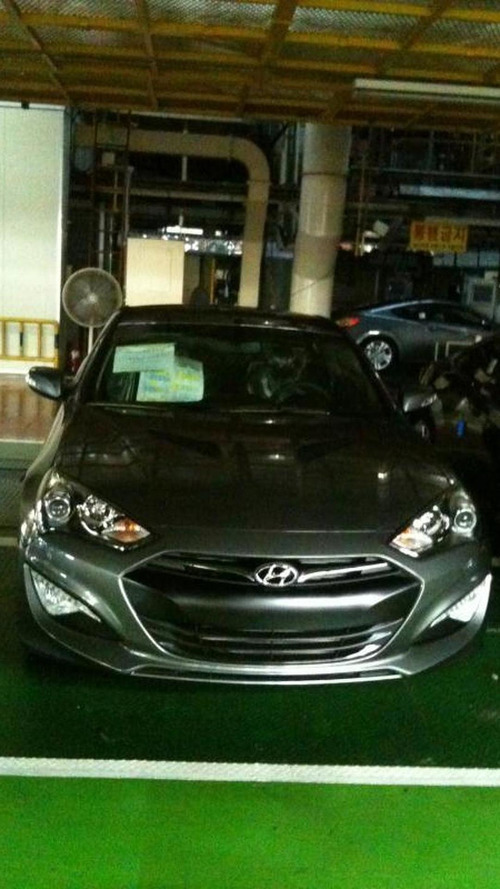 2012 Hyundai Genesis Coupe spied on the factory floor
