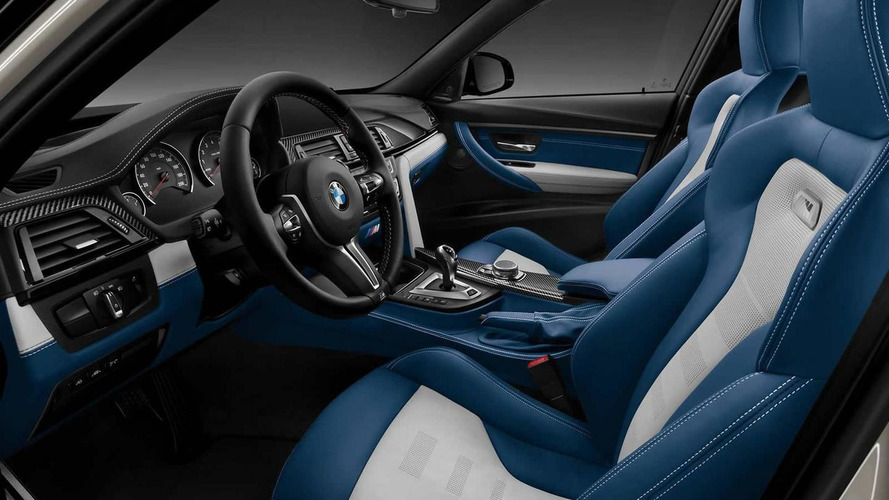 BMW Individual reveals fancy M3 with silver and blue interior