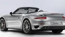 Porsche 911 Turbo Cabrio rendered