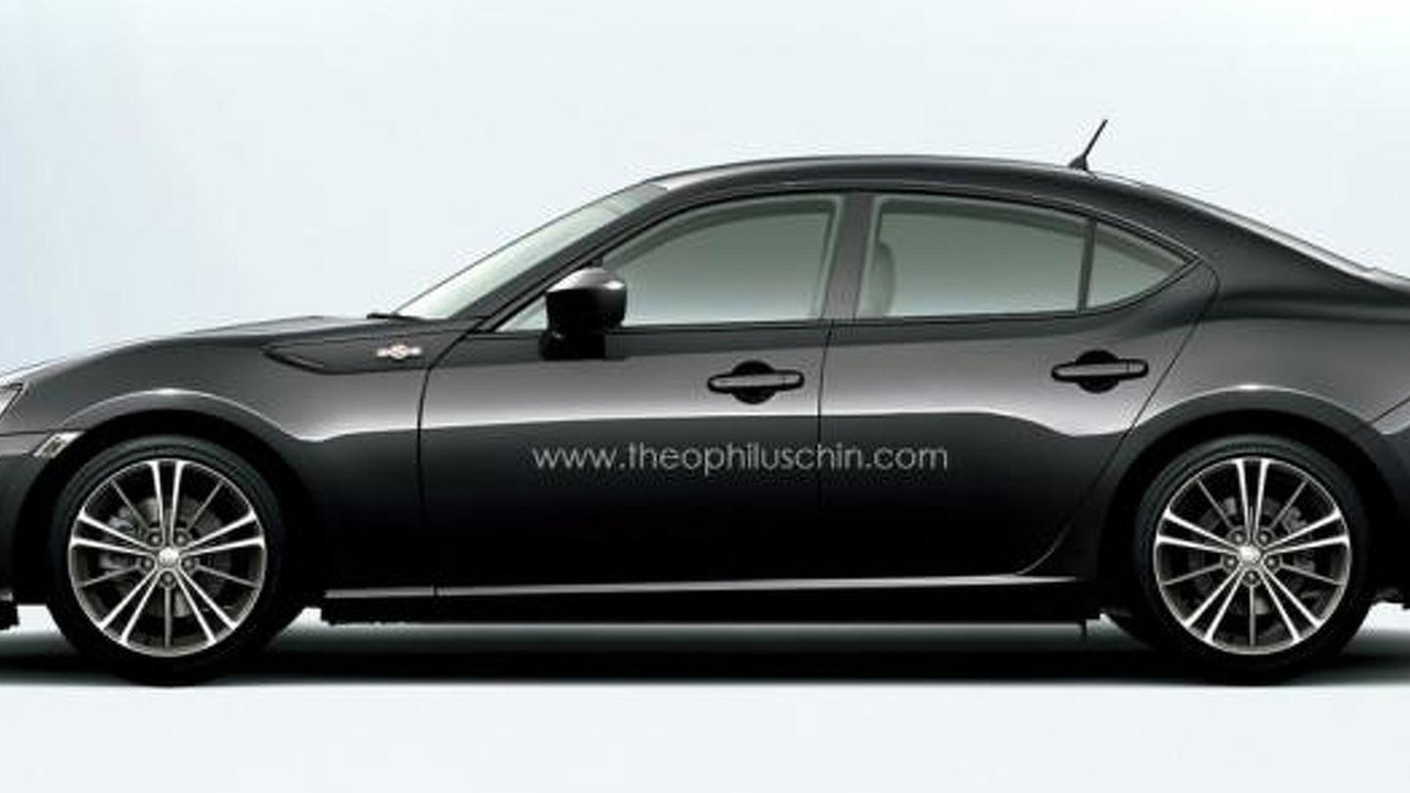 Toyota GT 86 Sedan render 12.10.2013