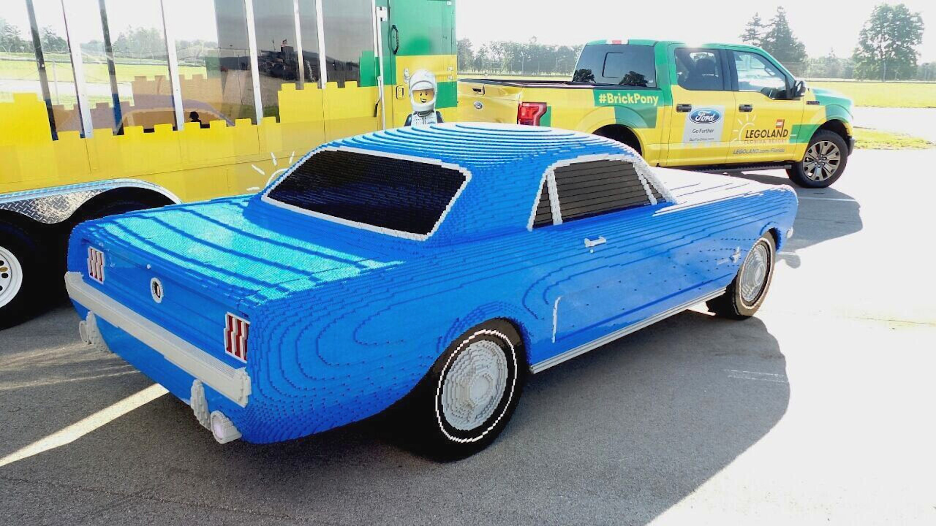 Life-size 1964 Ford Mustang recreated in Lego