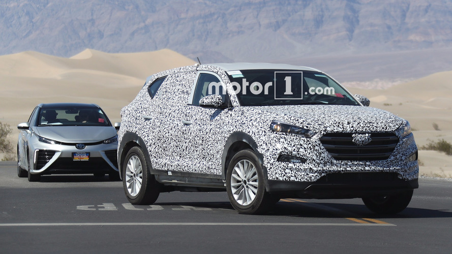 Hyundai's next fuel-cell electric vehicle spied while testing