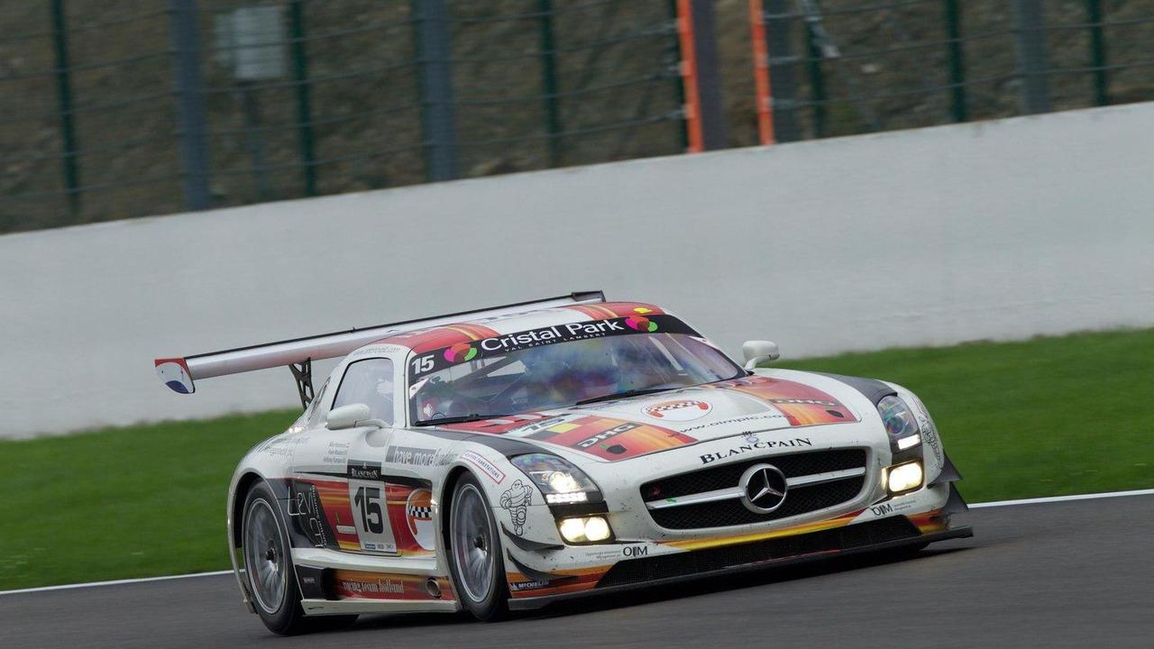 Mercedes-Benz Black Falcon SLS AMG GT3 at Spa 01.08.2011
