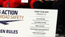 The drivers Golden Rules road safety pledge, Australian GP 2013