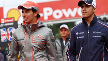 Perez worried, Maldonado happy after F1 team splits