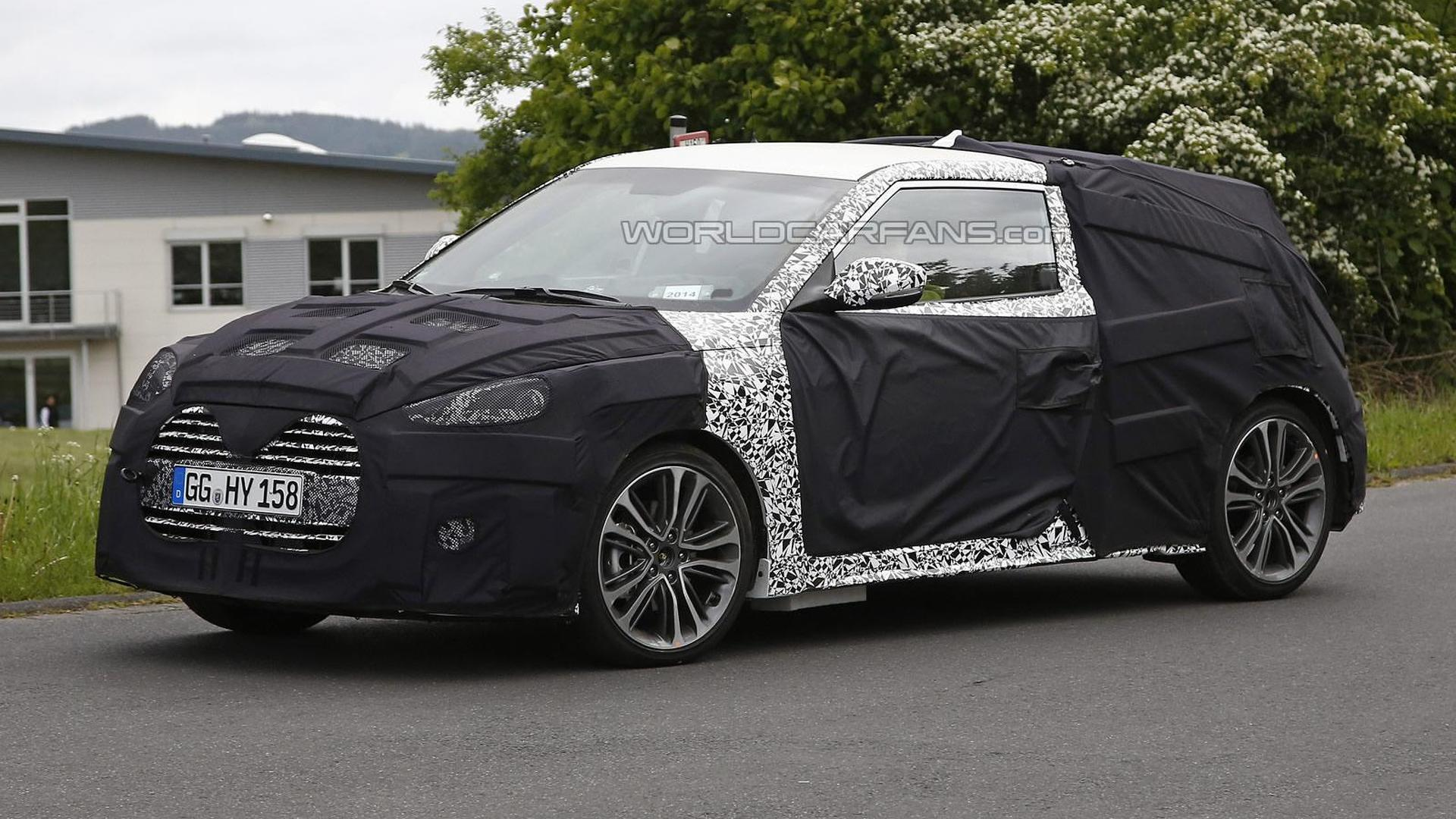 Hyundai Veloster Turbo facelift spied in Germany