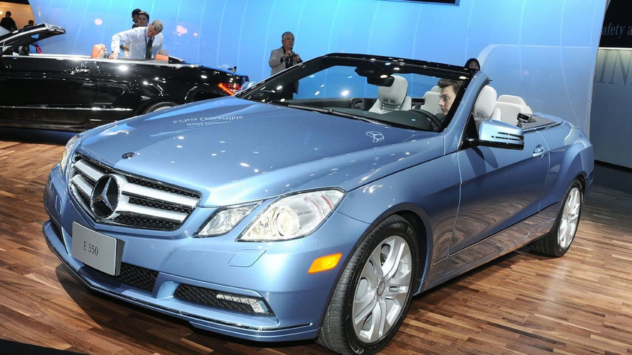 2010 Mercedes-Benz E-Class Cabriolet World Debut in Detroit