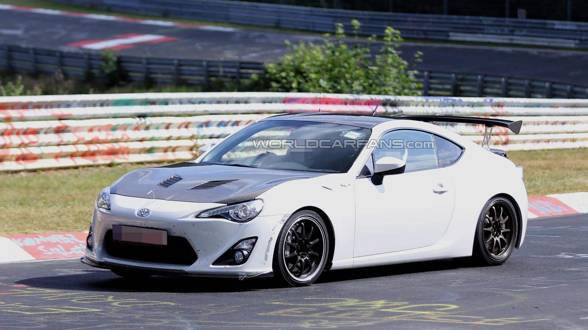 Mysterious 2015 Toyota GT 86 prototype spied at the 'Ring testing lightweight body parts