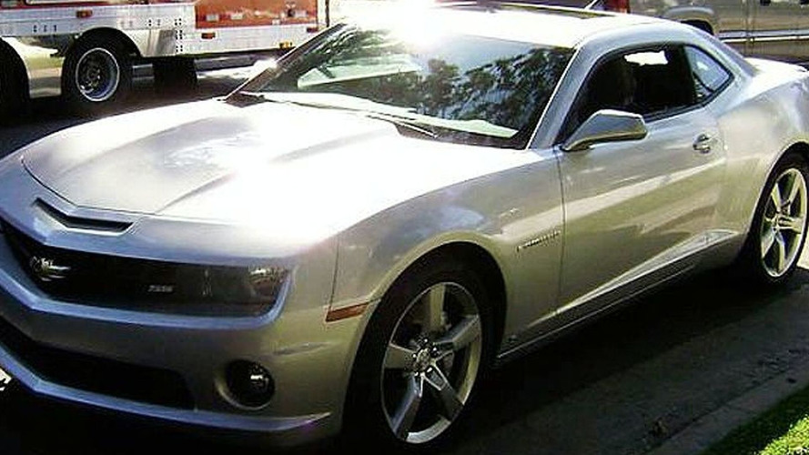 2010 Camaro SS Spied on TV Production Set
