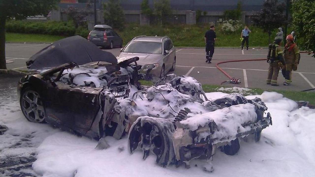 Lamborghini Gallardo fire in Oslo, 978, 05.07.2011