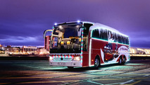 Mercedes Christmas Travego unveiled with LED lights & unique graphics