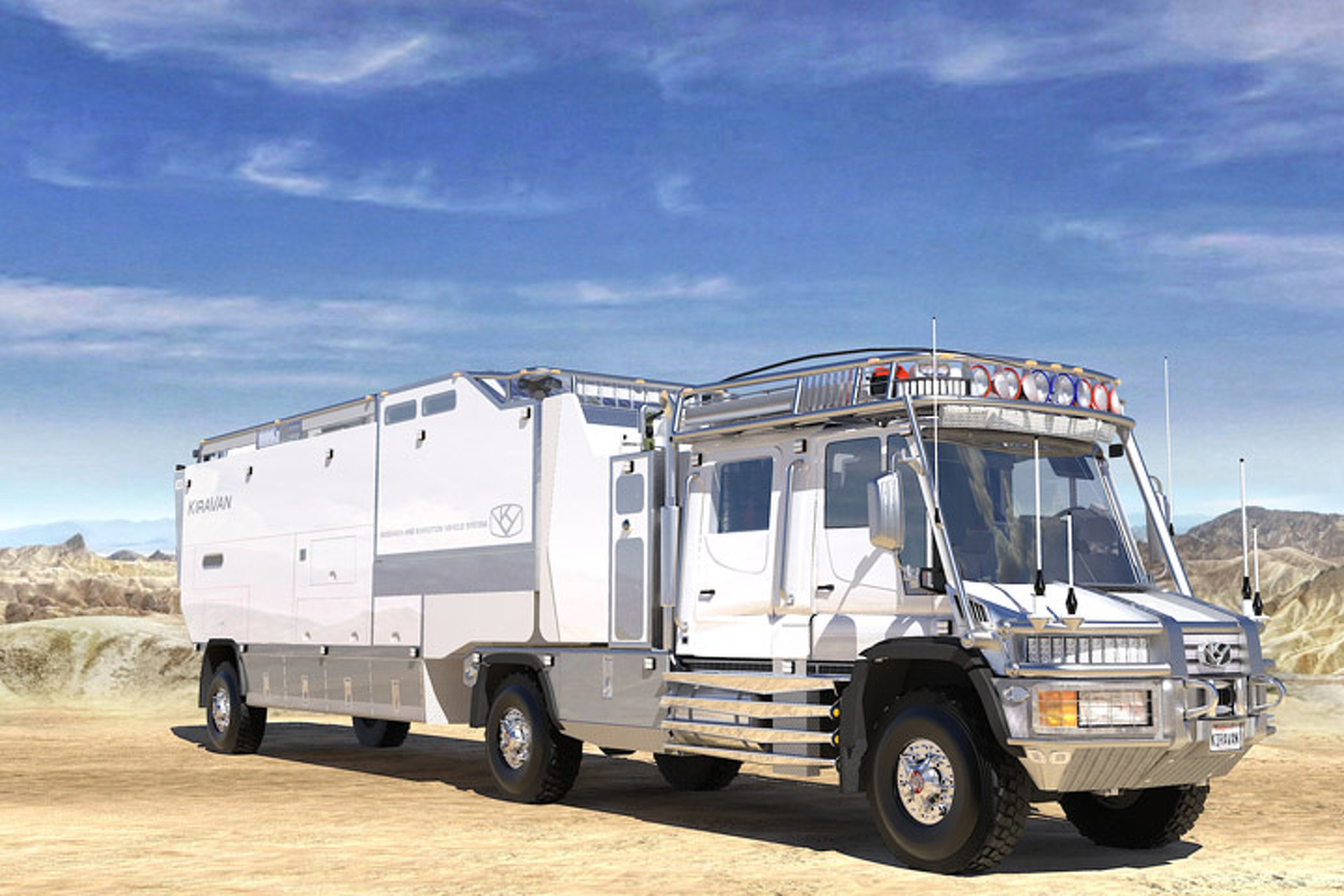 KiraVan: Meet the World's Most Extravagant Off-Road Truck