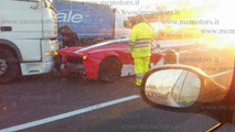 LaFerrari rear-ended by truck