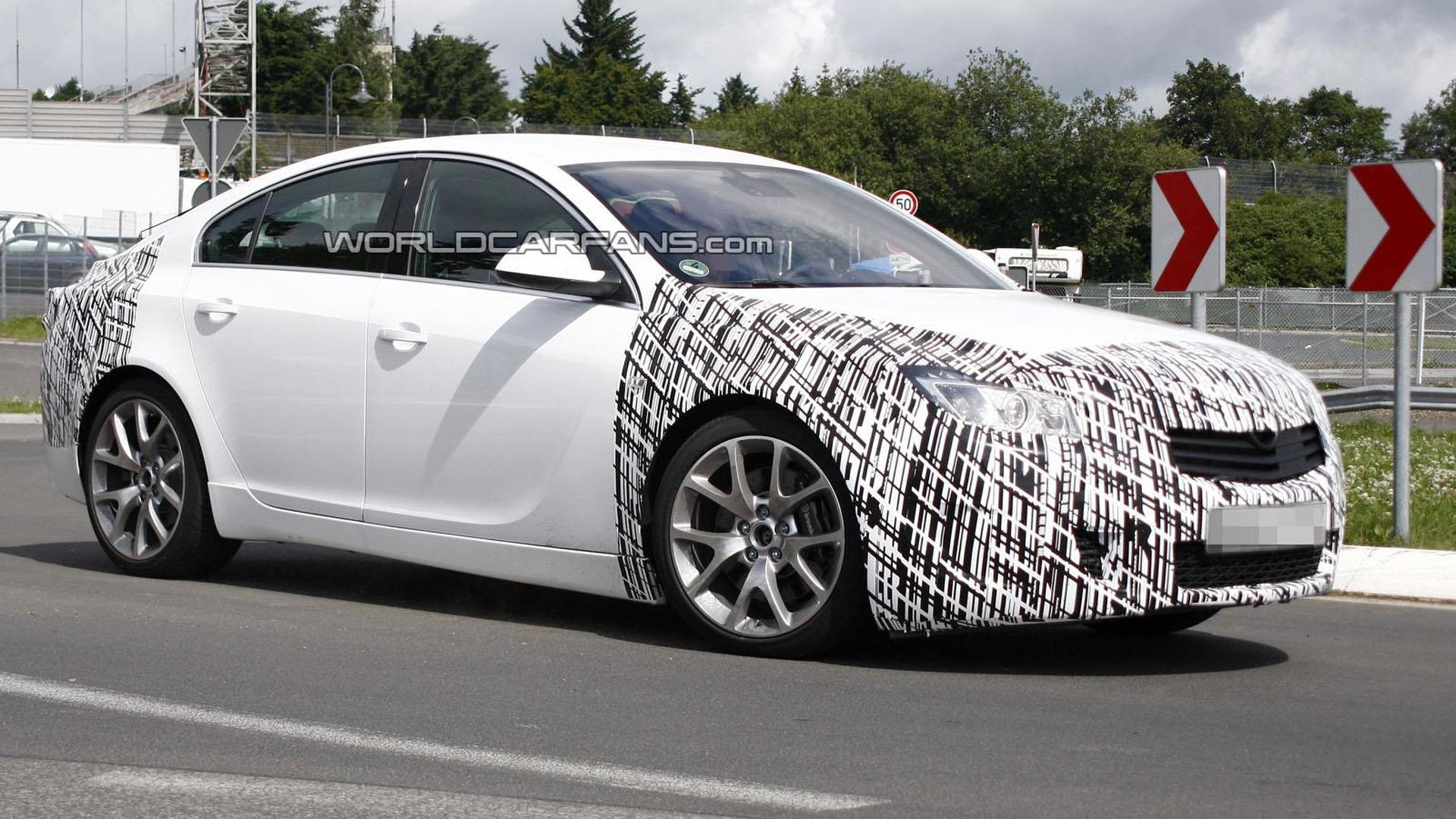 2013 Opel Insignia OPC facelift spied for the first time