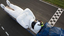Big Stig is a 9 meter / 30 foot tall statue heading to Warsaw, Poland
