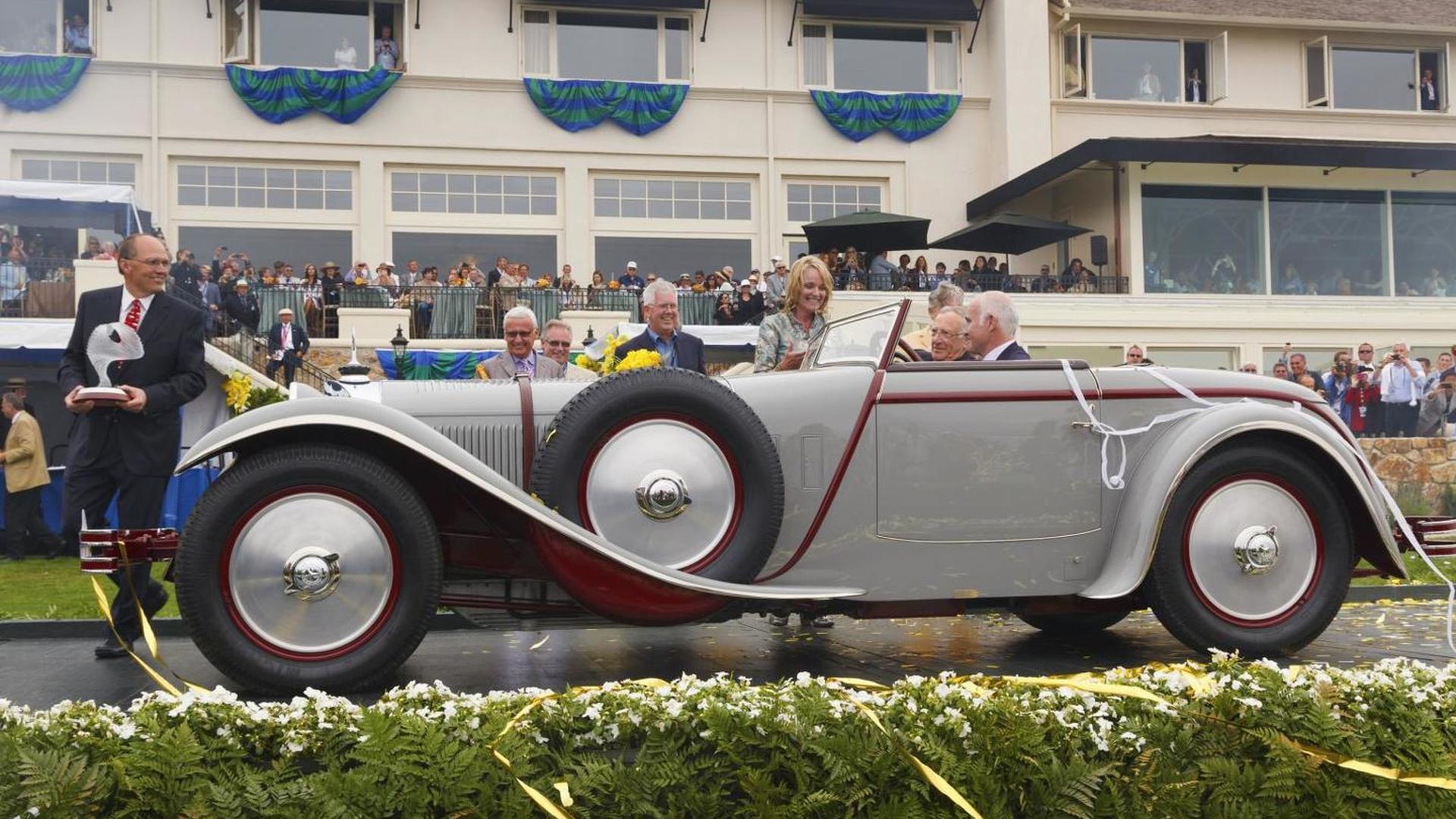 'Best in Show' award at Pebble Beach won by a 1928 Mercedes-Benz 680S Saoutchik Torpedo