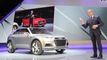 Audi Crosslane Coupe concept live in Paris 27.09.2012
