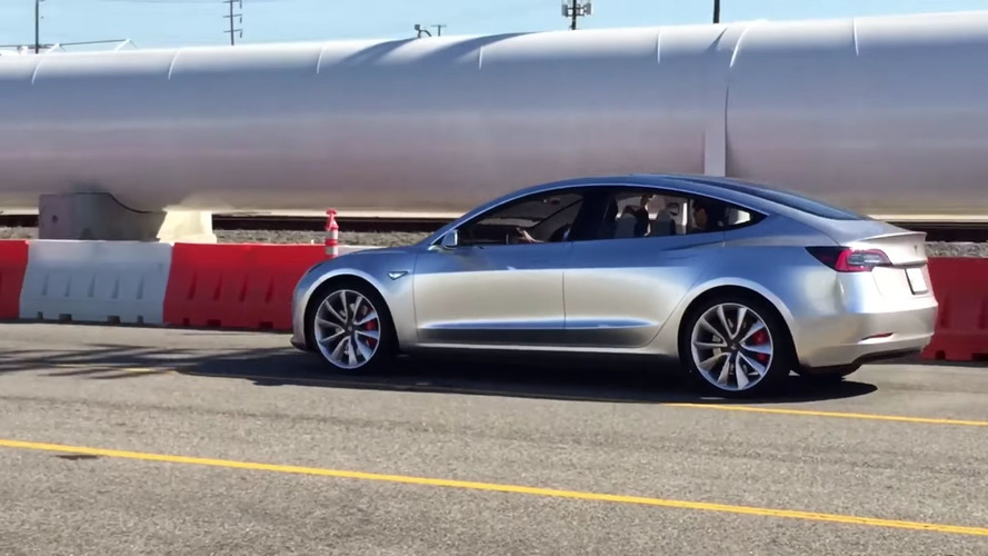 Tesla Model 3 Prototype Caught Cruising Down the Street
