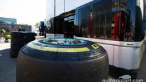 A Mercedes AMG F1 Pirelli tyre