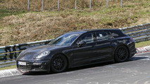 Porsche Panamera Shooting Brake sits low during 'Ring tests
