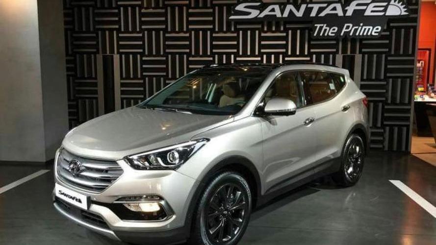 Hyundai Santa Fe facelift revealed in South Korea