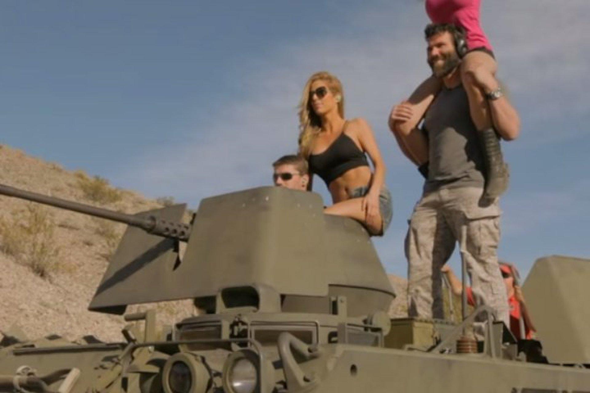 Dan Bilzerian Shoots Guns, Drives Tanks, Surrounds Himself With Women [Video]