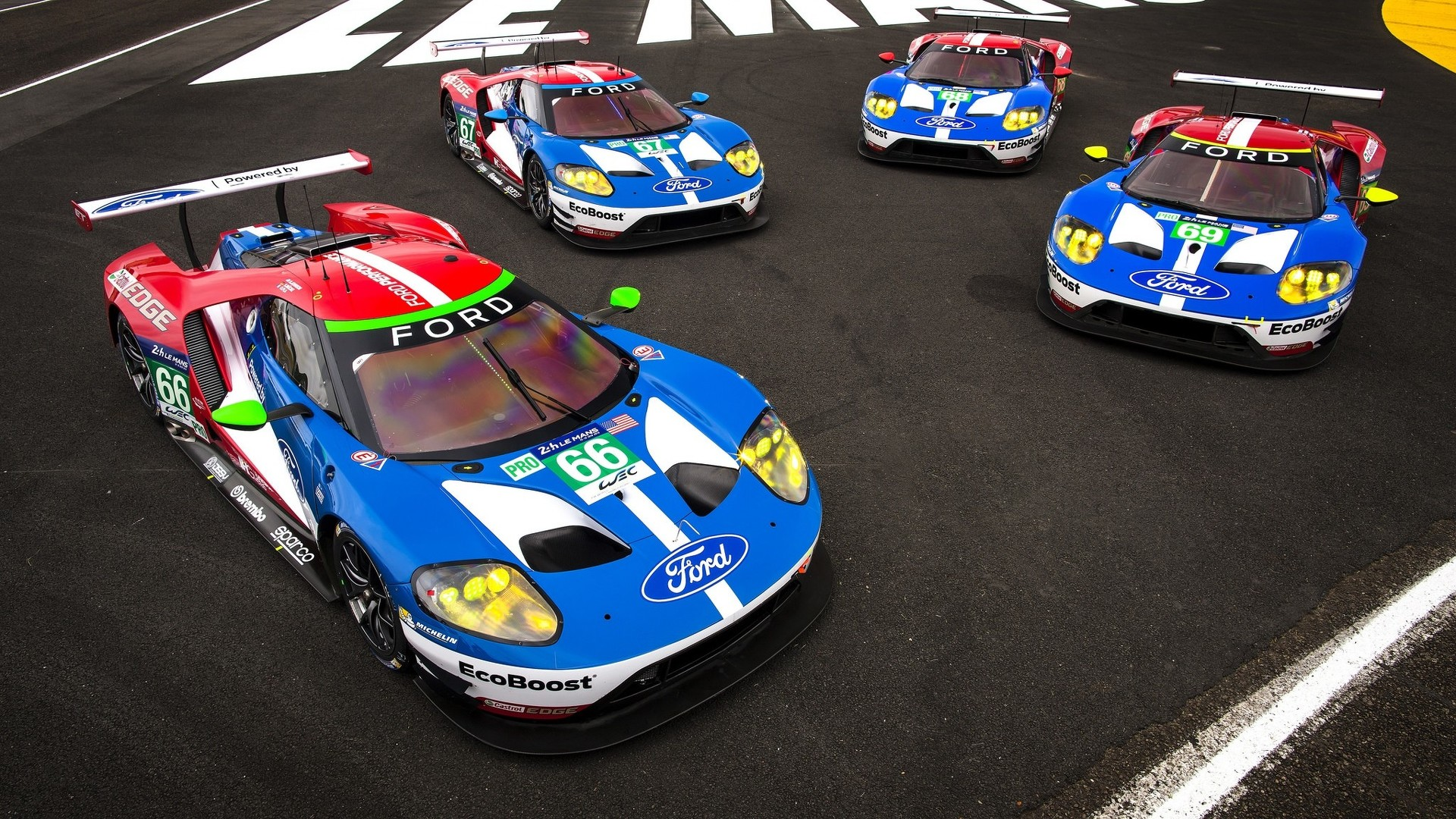 Ford GT race car travels from Le Mans to Goodwood