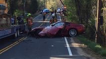 Did a former prime minister crash this Ferrari 599?