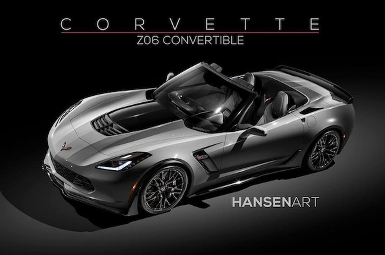 Stunning Corvette Z06 Convertible Rendered