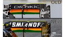 Sahara Force India F1 VJM09 rear wing detail