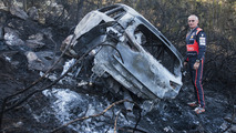 Hyundai i20 WRC burns to a crisp during Rally Portugal