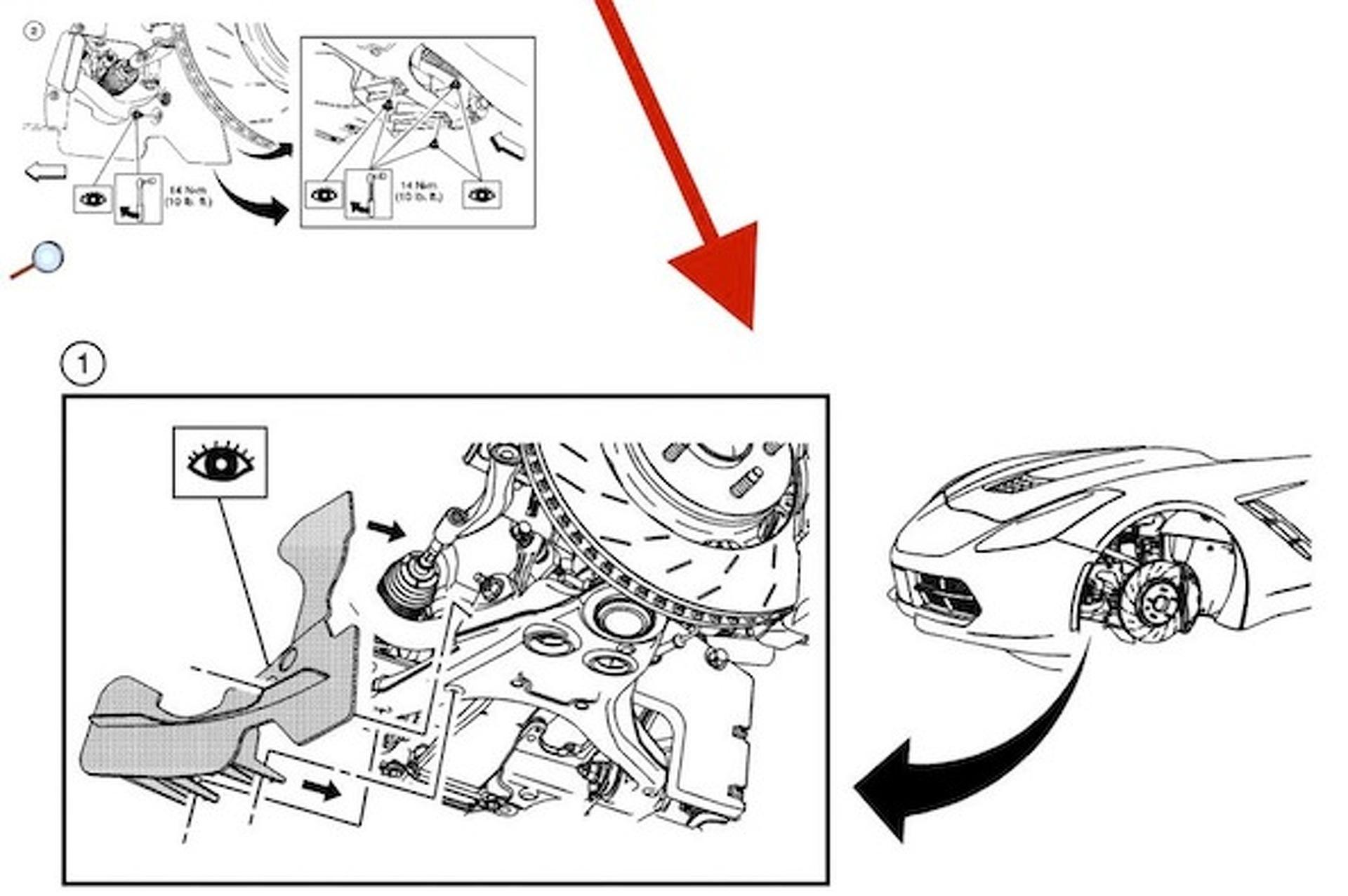 2014 Corvette: Front End, Brake Illustration Leaked by Chevrolet
