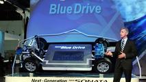 Hyundai Hybrid Blue Drive debut at Los Angeles Auto Show 2008