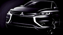 Mitsubishi Outlander PHEV Concept-S teased ahead of Paris debut