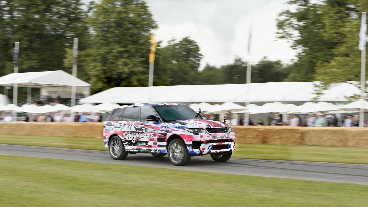 Range Rover Sport SVR prototype live at Goodwood
