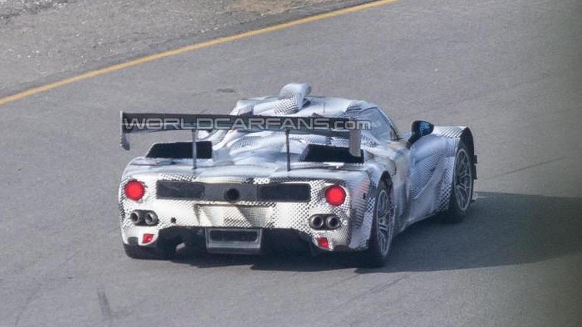 Ferrari LMP1 prototype spied testing in Europe