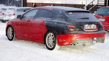 Mercedes-Benz CLA Shooting Brake spied up close, looks like a mini CLS SB